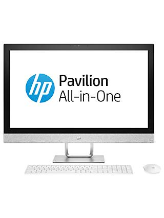 "HP Pavilion 27-r079na All-in-One PC, Intel Core i5, 16GB, 2TB HDD, 27"", AMD Radeon 530, White"