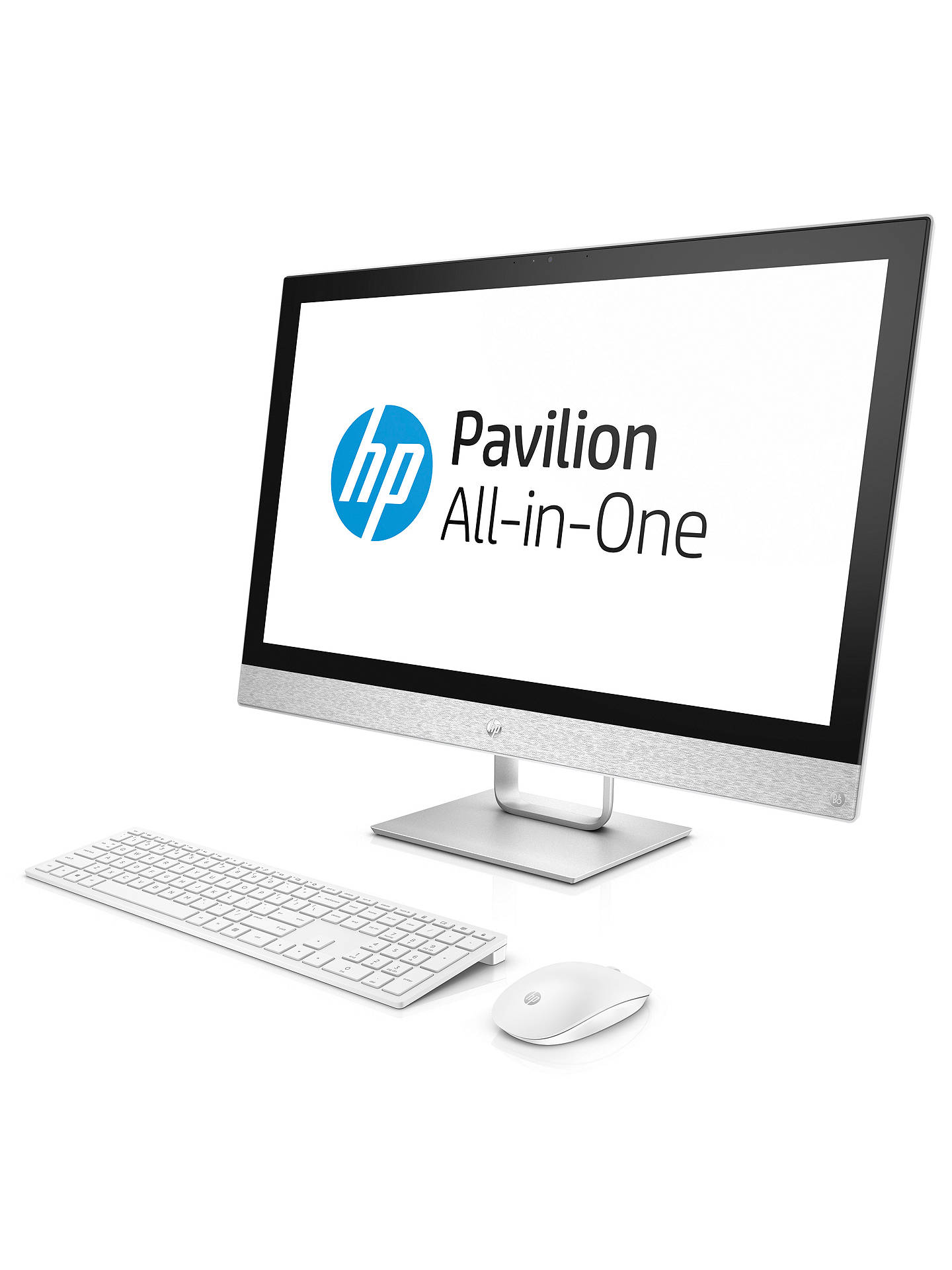 "BuyHP Pavilion 27-r079na All-in-One PC, Intel Core i5, 16GB, 2TB HDD, 27"", AMD Radeon 530, White Online at johnlewis.com"