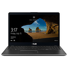 "Buy ASUS Zenbook Flip UX561 Laptop, Intel Core i7, 12GB, 1TB HDD +128GB SSD, GeForce MX150, 15.6"", Grey Online at johnlewis.com"