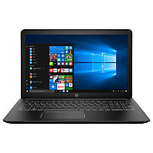 "Buy HP Pavilion Power 15-cb018na Laptop, Intel Core i7, 8GB RAM, 1TB HDD + 128GB SSD, GeForce GTX 1050 Ti, 15.6"", Black Online at johnlewis.com"