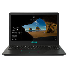 "Buy ASUS K570UD-DM009T Laptop, Intel Core i5, 8GB, 1TB + 128 SSD, GeForce GTX 1050, 15.6"", Black Online at johnlewis.com"