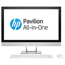 "Buy HP Pavilion 27-R059NA All-in-One PC, Intel Core i5, 16GB, 2TB HDD, 27"", White Online at johnlewis.com"