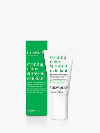 This Works Evening Detox Spray On Exfoliant, 60ml