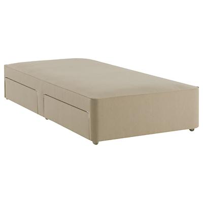John Lewis Natural Collection Pocket Spring 2 Drawer Divan Storage Bed, FSC-Certified (Spruce, Fiberboard, Plywood), Single