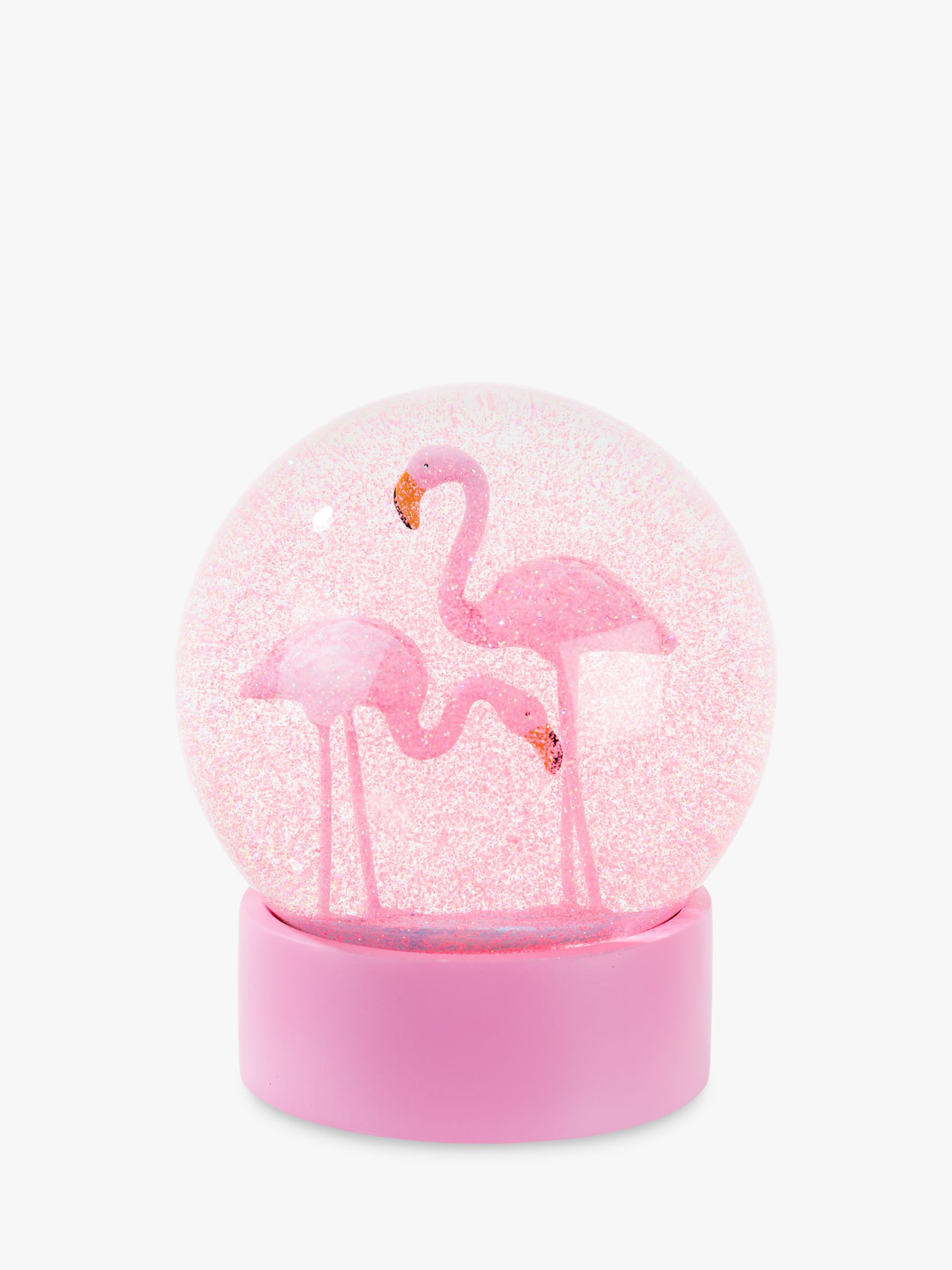 Talking Tables Talking Tables Flamingo Snow Globe, Pink