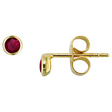 Buy London Road 9ct Gold Raindrop Stud Earrings Online at johnlewis.com