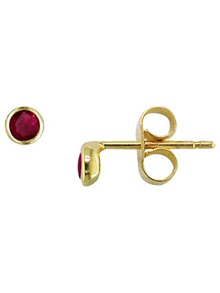 London Road 9ct Gold Raindrop Stud Earrings