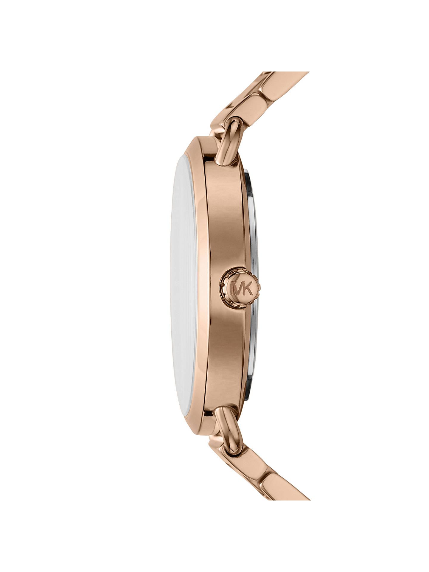 e95791bdedac ... Buy Michael Kors MK3827 Women s Portia Bracelet Strap Watch And Heart  Chain Bracelet Gift Set