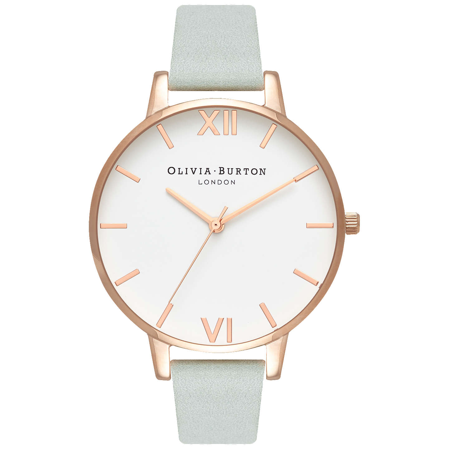 Olivia Burton Women's White Dial Leather Strap Watch, Sage Ob16 Bdw36 by Olivia Burton