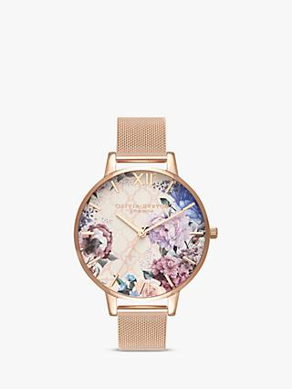 Olivia Burton OB16EG86 Women's Glasshouse Bracelet Strap Watch, Gold/ Multi