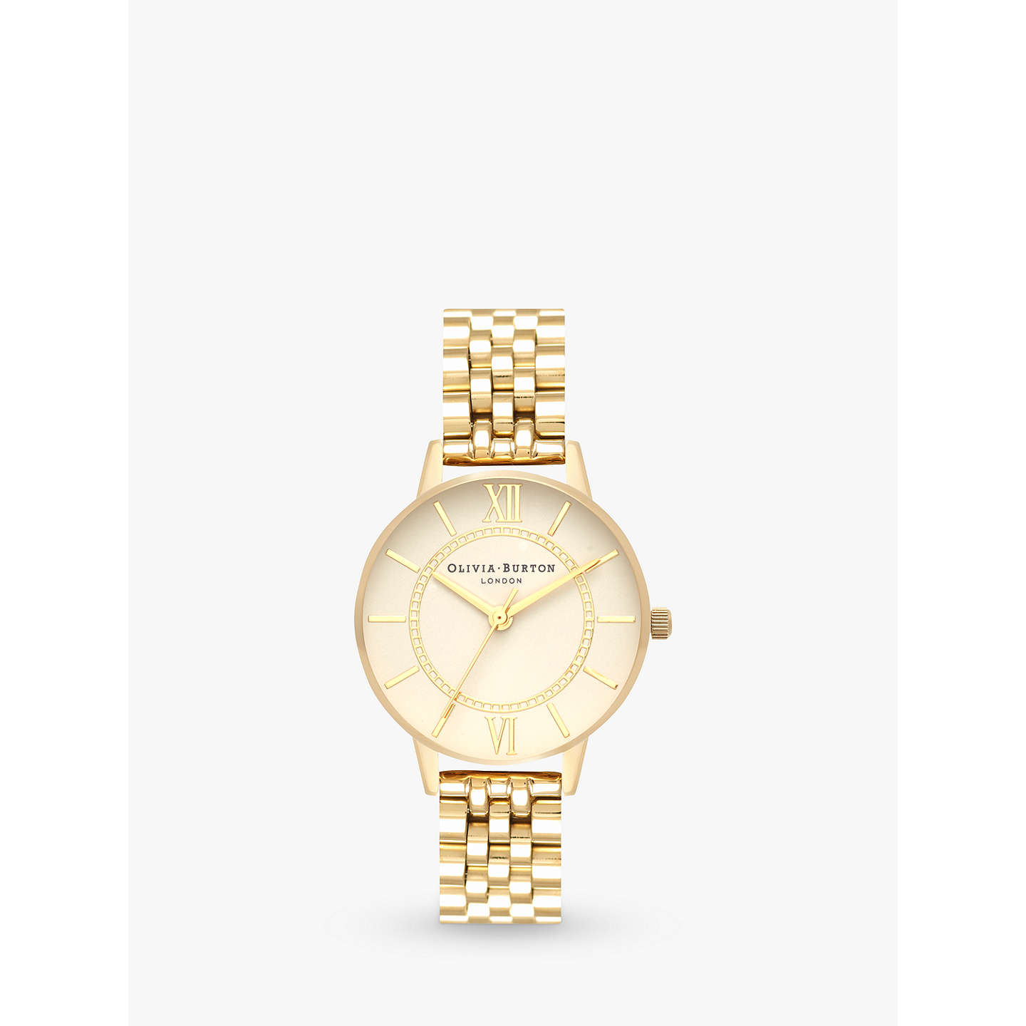 Olivia Burton Ob16 Wd69 Women's Wonderland Stainless Steel Strap Round Watch, Gold by Olivia Burton