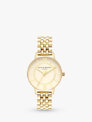 Olivia Burton OB16WD69 Women's Wonderland Stainless Steel Strap Round Watch, Gold