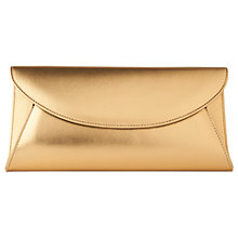 Buy L.K. Bennett Flo Fold-Over Clutch Bag, Bronze Online at johnlewis.com
