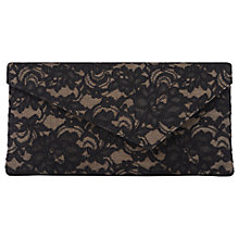 Buy L.K. Bennett Leonie Clutch, Black Lace Online at johnlewis.com