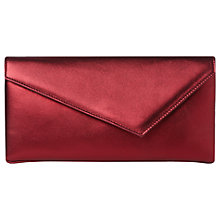 Buy L.K. Bennett Leonie Leather Clutch, Red Wine Online at johnlewis.com