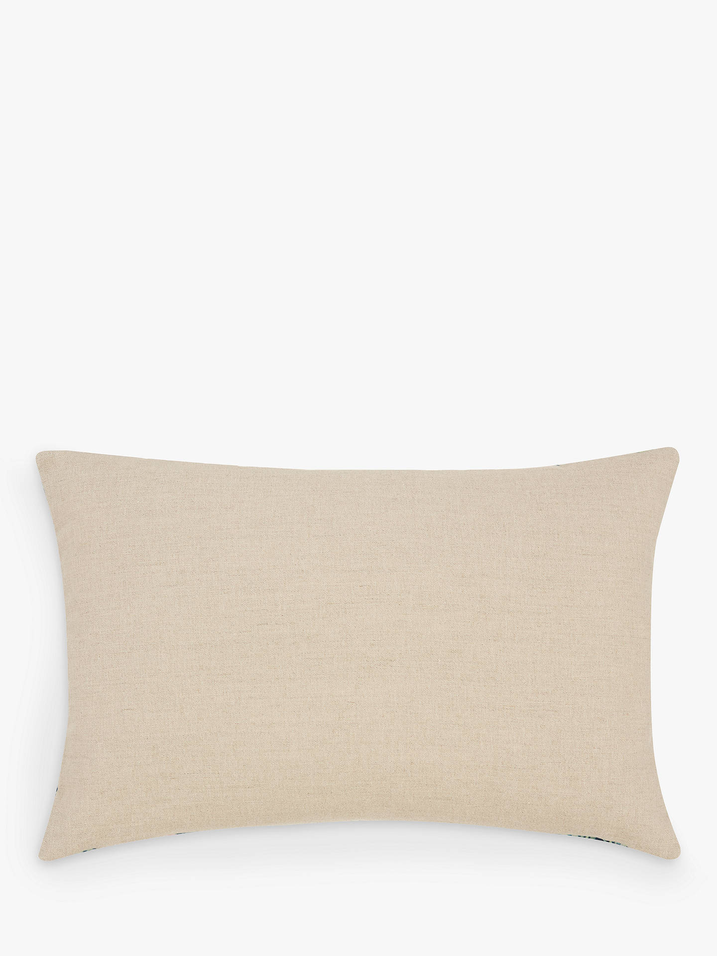 Buy Morris & Co. Strawberry Thief Velvet Cushion, Multi Online at johnlewis.com