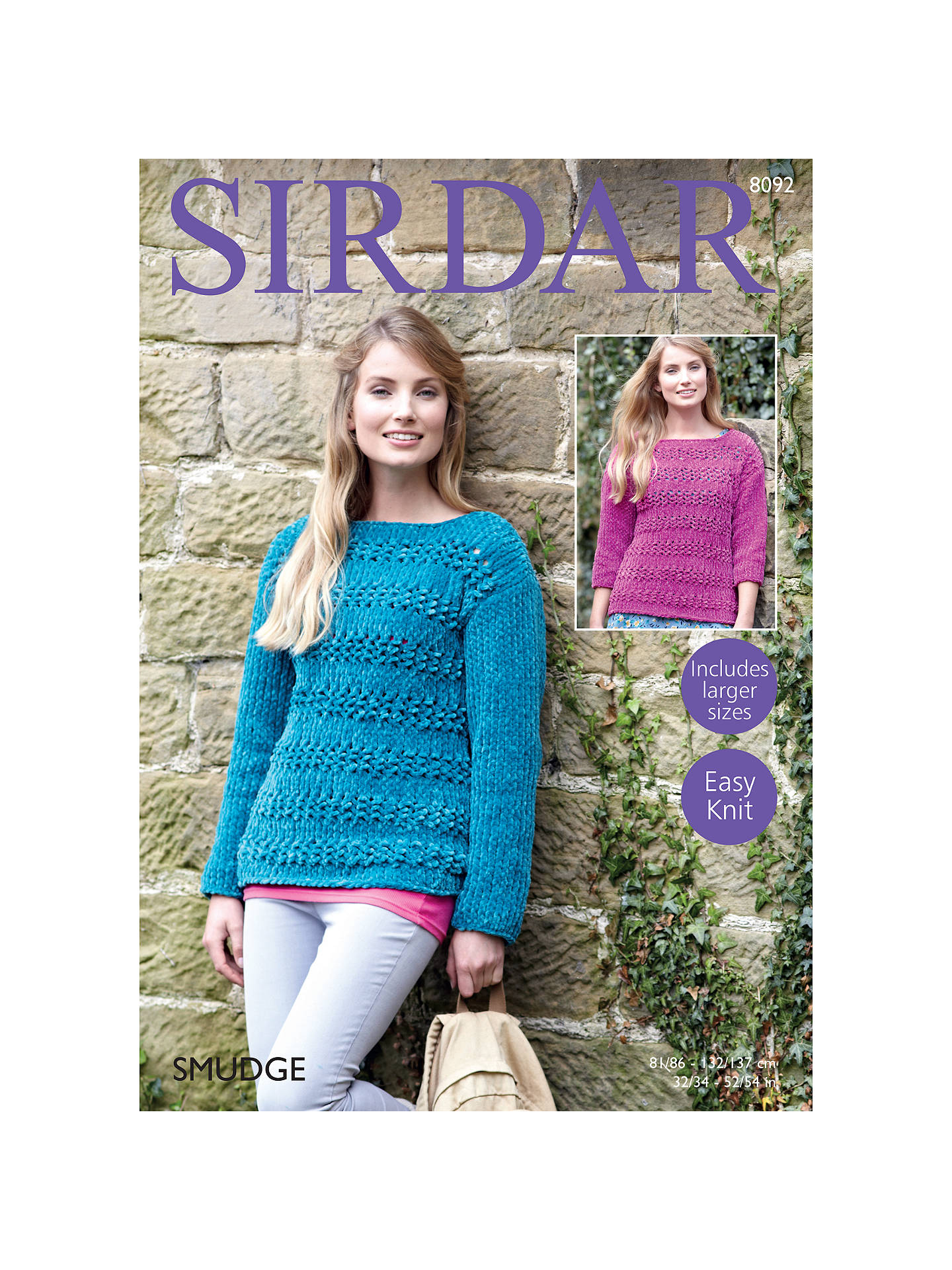 44eacc74b8e5f Buy Sirdar Smudge Women s Jumper Knitting Pattern