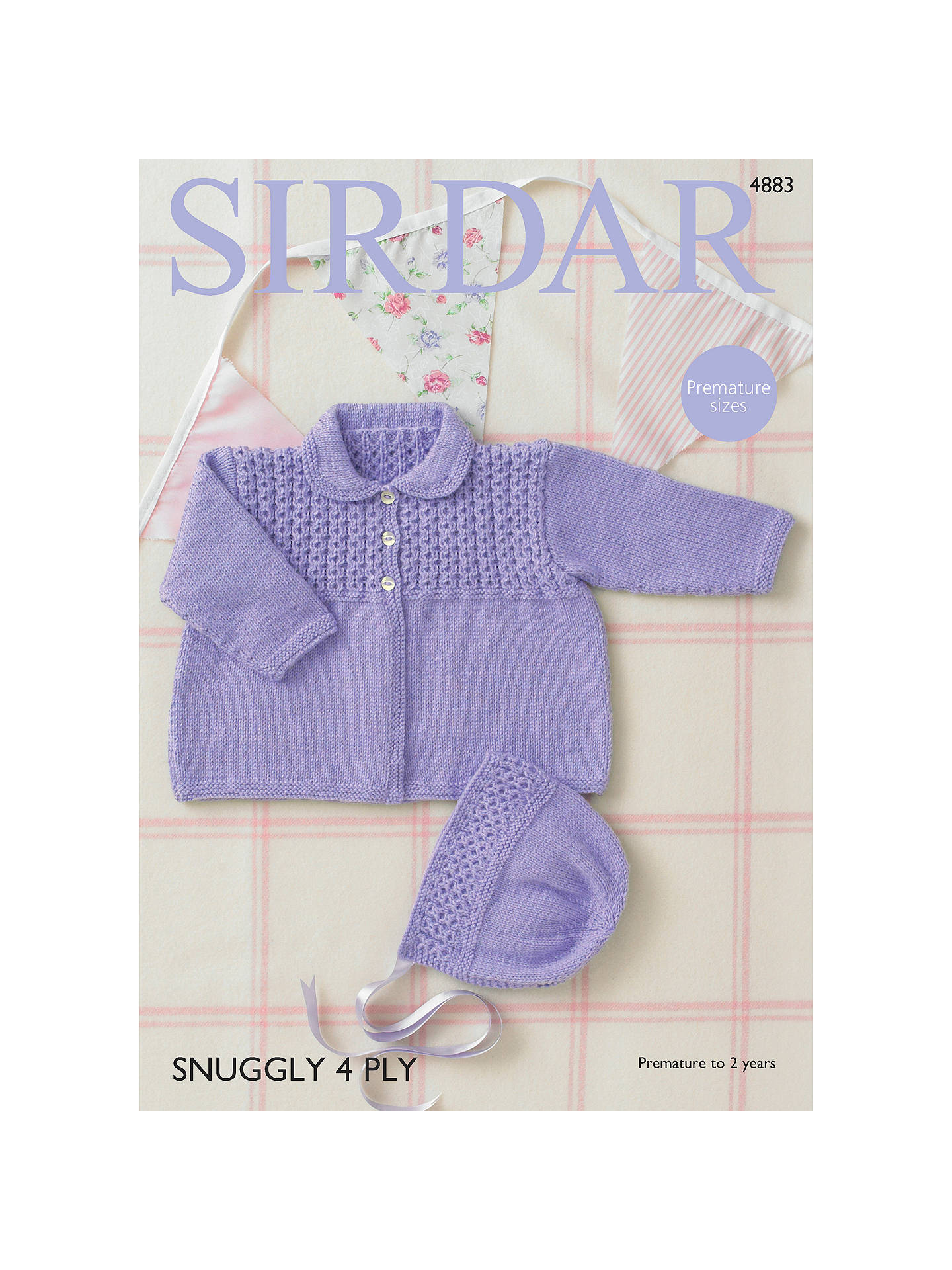 BuySirdar Snuggly 4 Ply Baby Hat And Cardigan Knitting Pattern 10e027fca71