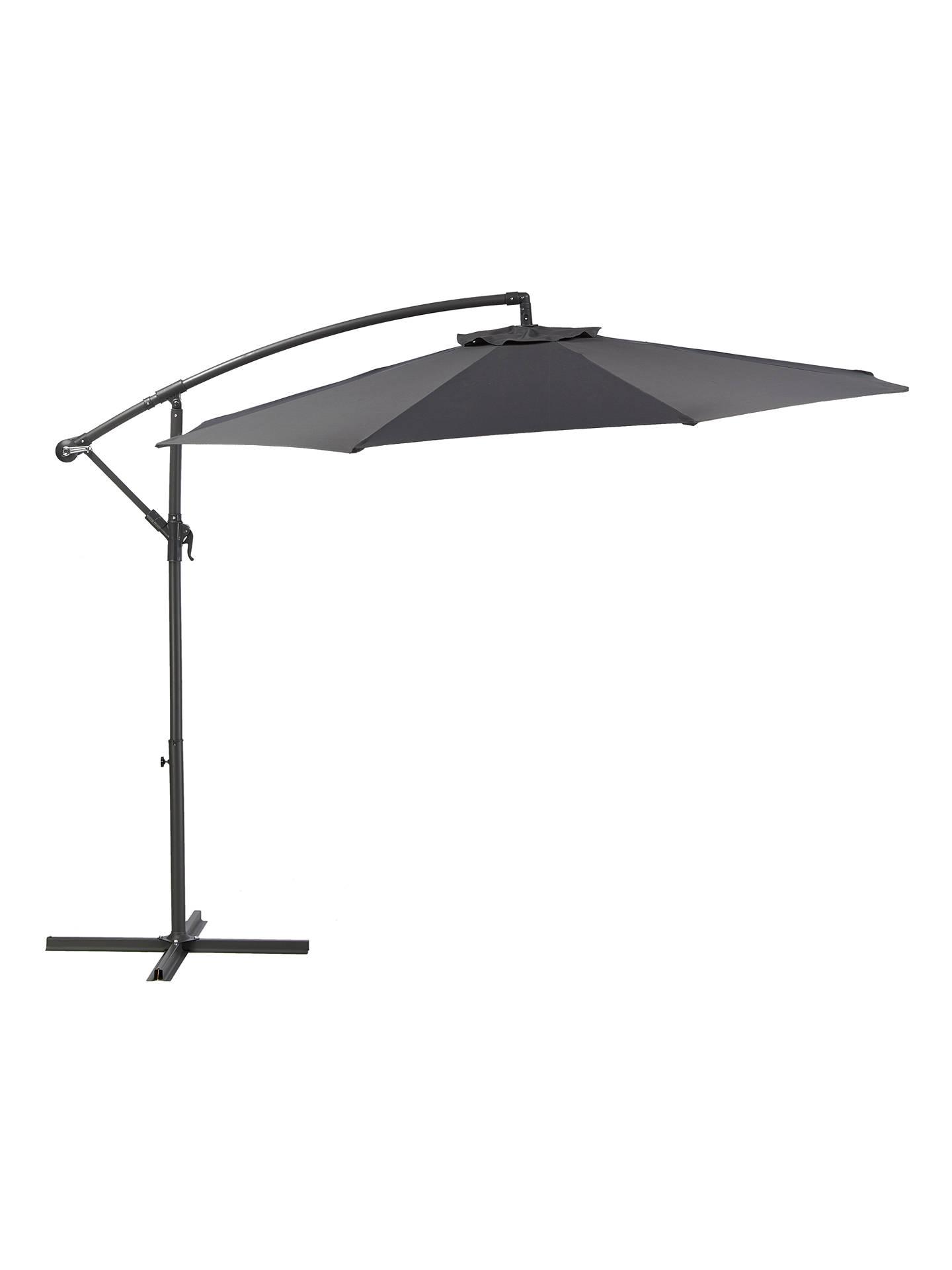 a94367bc544e Buy John Lewis & Partners 3m Freestanding Parasol, Dark Grey Online at  johnlewis. ...