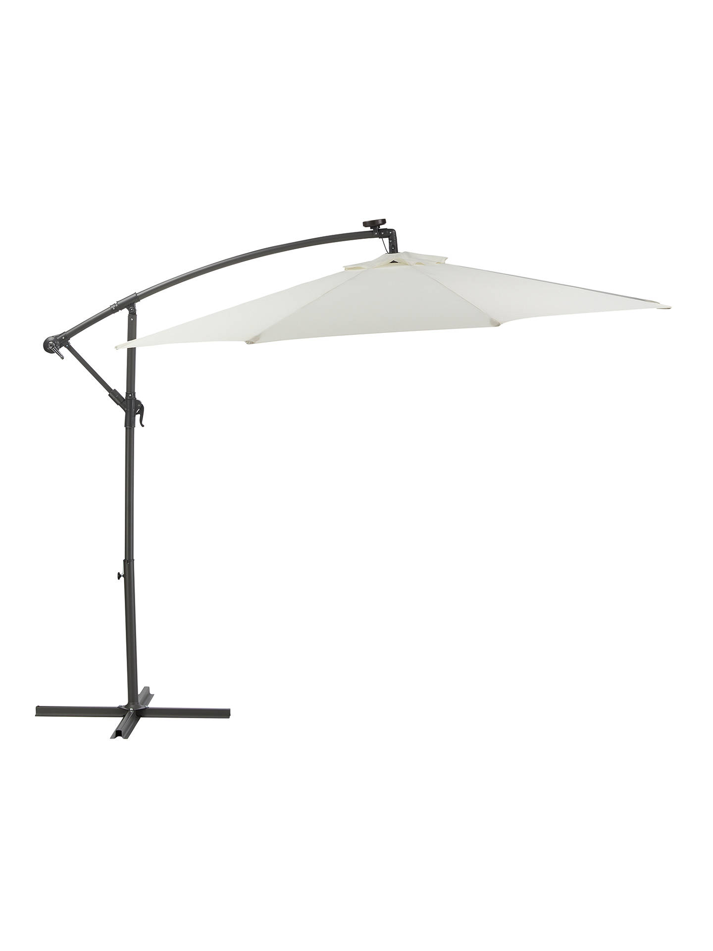 1755a1cc1a6f Buy John Lewis & Partners 3m Freestanding LED Lights Parasol, Oyster Online  at johnlewis.