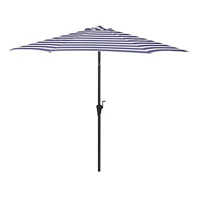 John Lewis & Partners 2.7m Striped Parasol, Navy