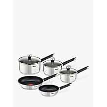 Buy Tefal Emotion Stainless Steel Pan Set, Pieces 5 Online at johnlewis.com