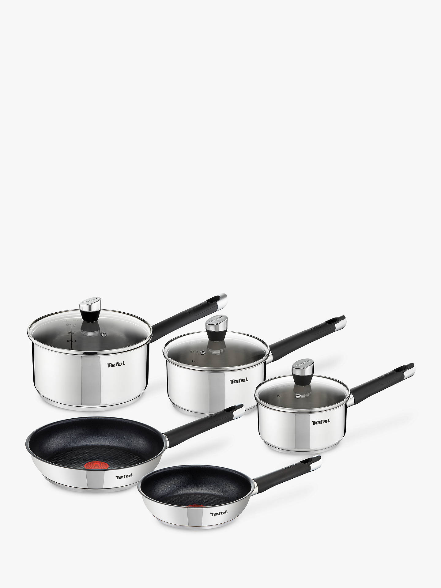 tefal emotion stainless steel pan set pieces 5 at john. Black Bedroom Furniture Sets. Home Design Ideas