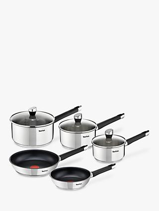 Tefal Emotion Stainless Steel Pan Set, Pieces 5
