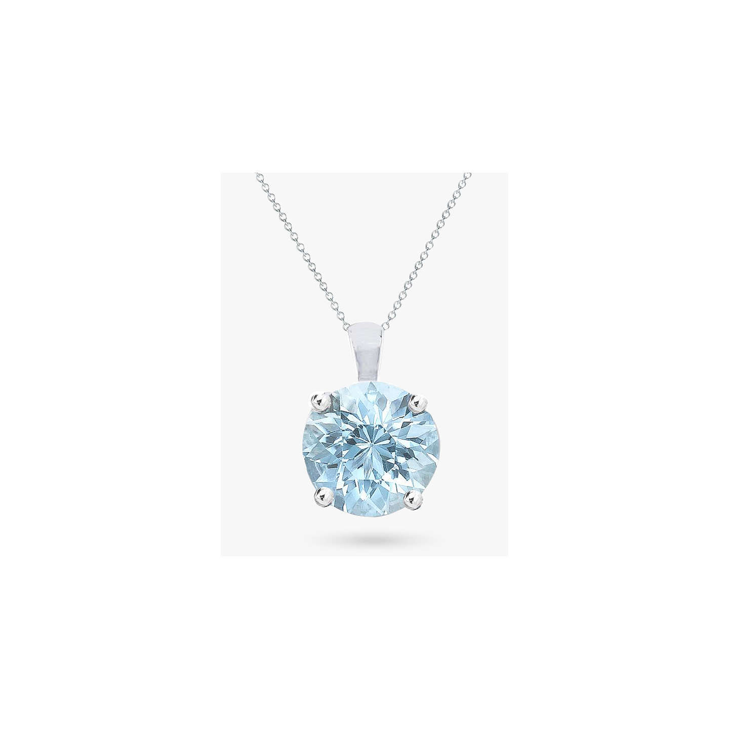 hiho zoom silver pendant aquamarine march necklace aqua birthstone necklaces cz loading sterling marine