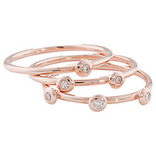 Buy London Road 9ct Rose Gold Portobello Raindrop Stack Ring Online at johnlewis.com