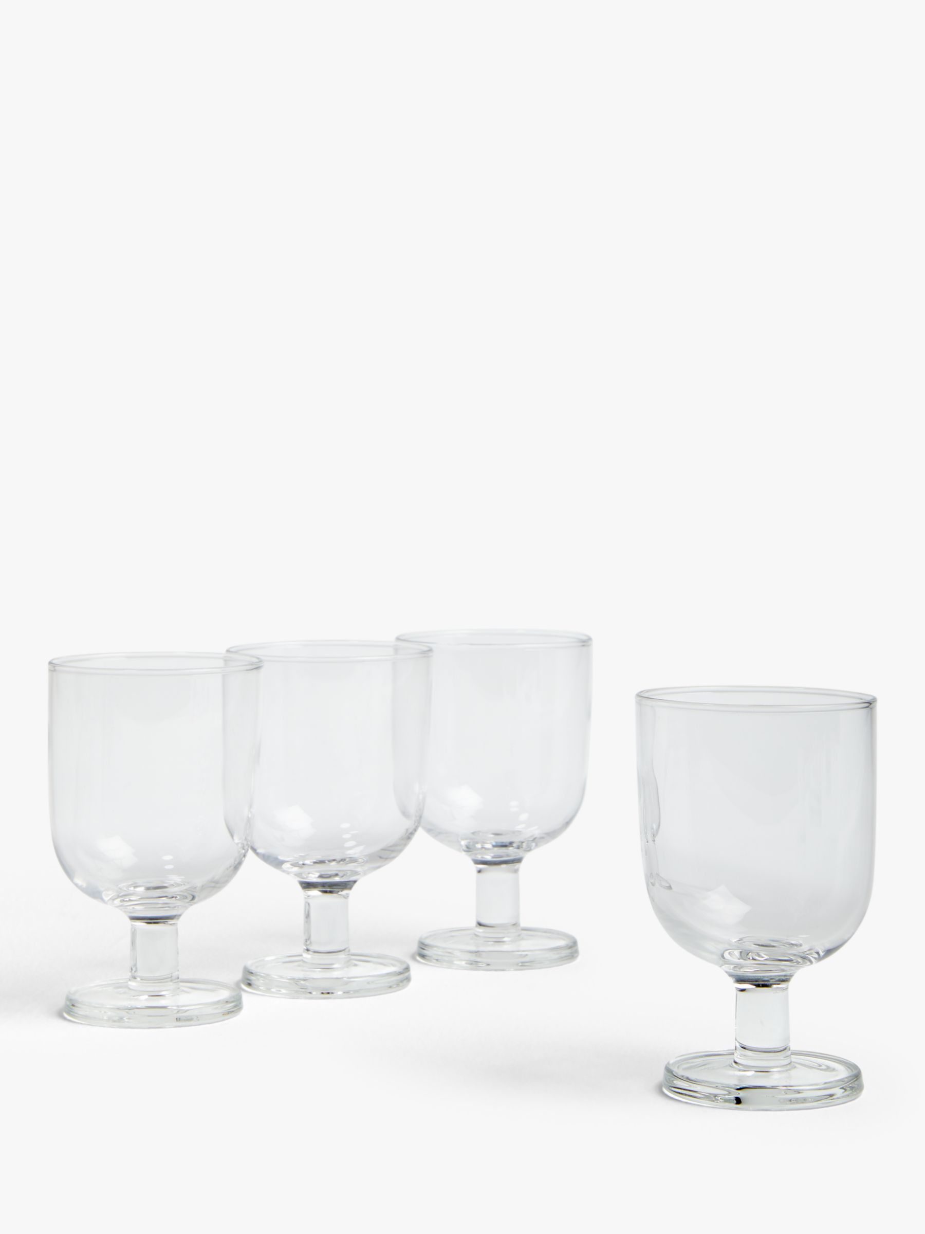 House by John Lewis House by John Lewis Stackable Wine Glasses, Clear, Set of 4