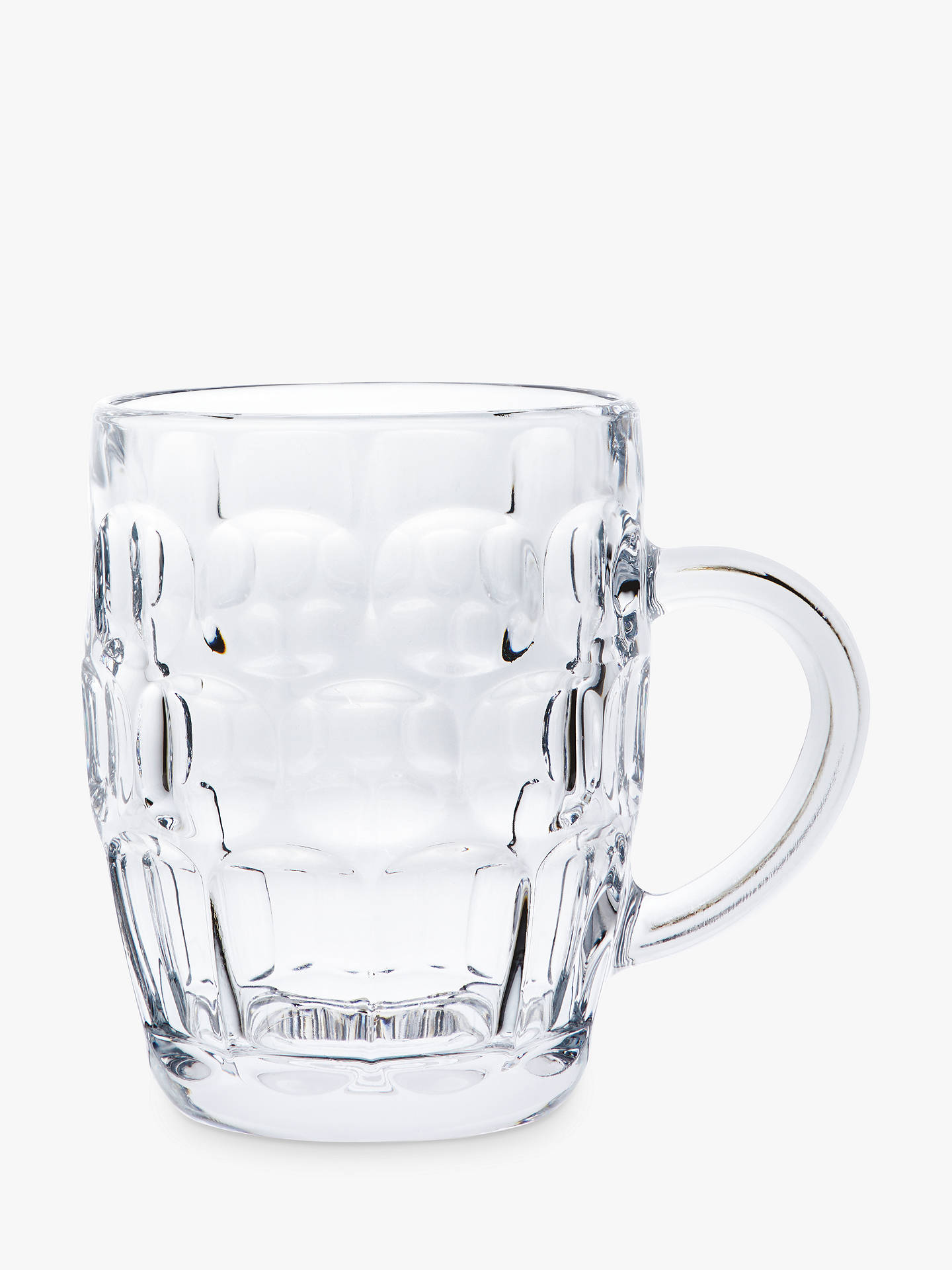 Buy John Lewis & Partners Cellar Dimpled Glass Tankard, Clear, 570ml Online at johnlewis.com