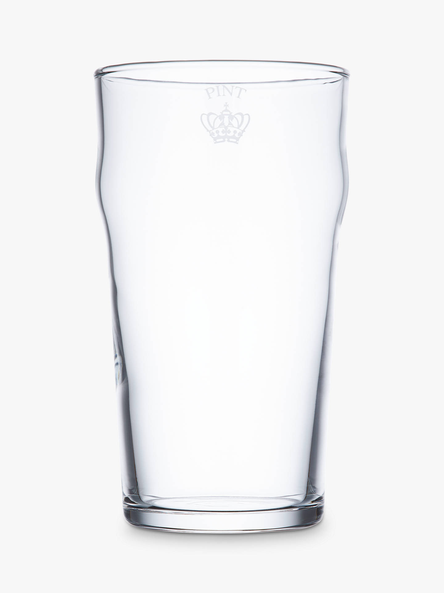 Buy John Lewis & Partners Cellar Pint Glasses, Clear, 580ml, Set of 2 Online at johnlewis.com