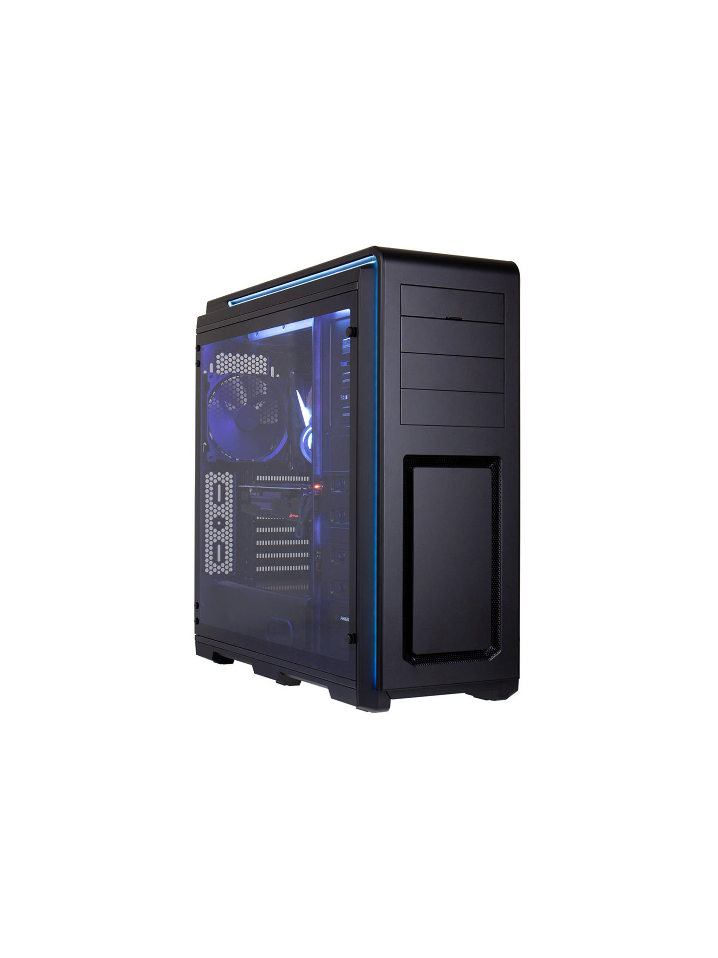 BuyOverclockers UK FS-1B1-OG Wraith, Custom Water-Cooled Gaming PC, Intel Core i7, 32 GB RAM, 2TB HDD + 480GB SSD, GeForce GTX 1080Ti, Black Online at johnlewis.com