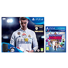 Buy Sony PlayStation 4 Slim Console, 1TB, with DUALSHOCK 4 Controller and FIFA 18, Jet Black and Knowledge is Power Online at johnlewis.com