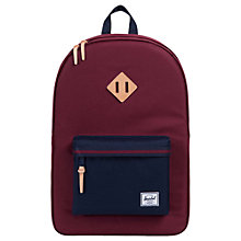 Buy Herschel Supply Co. Heritage Backpack, Windsor Wine Online at johnlewis.com