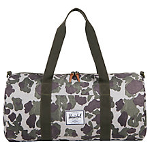 Buy Herschel Supply Co. Sutton Mid Volume Holdall, Green Online at johnlewis.com