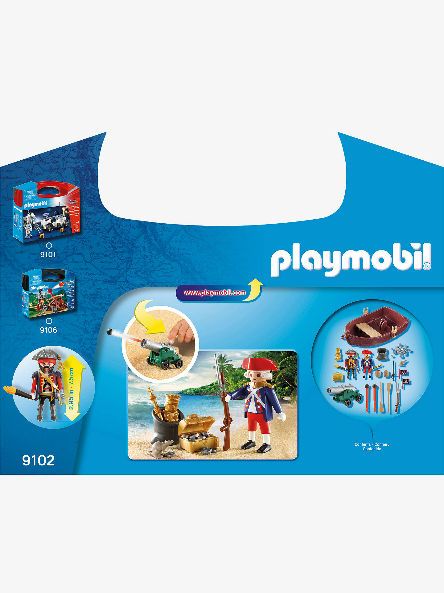 Buy Playmobil Pirate Raider Carry Case Online at johnlewis.com
