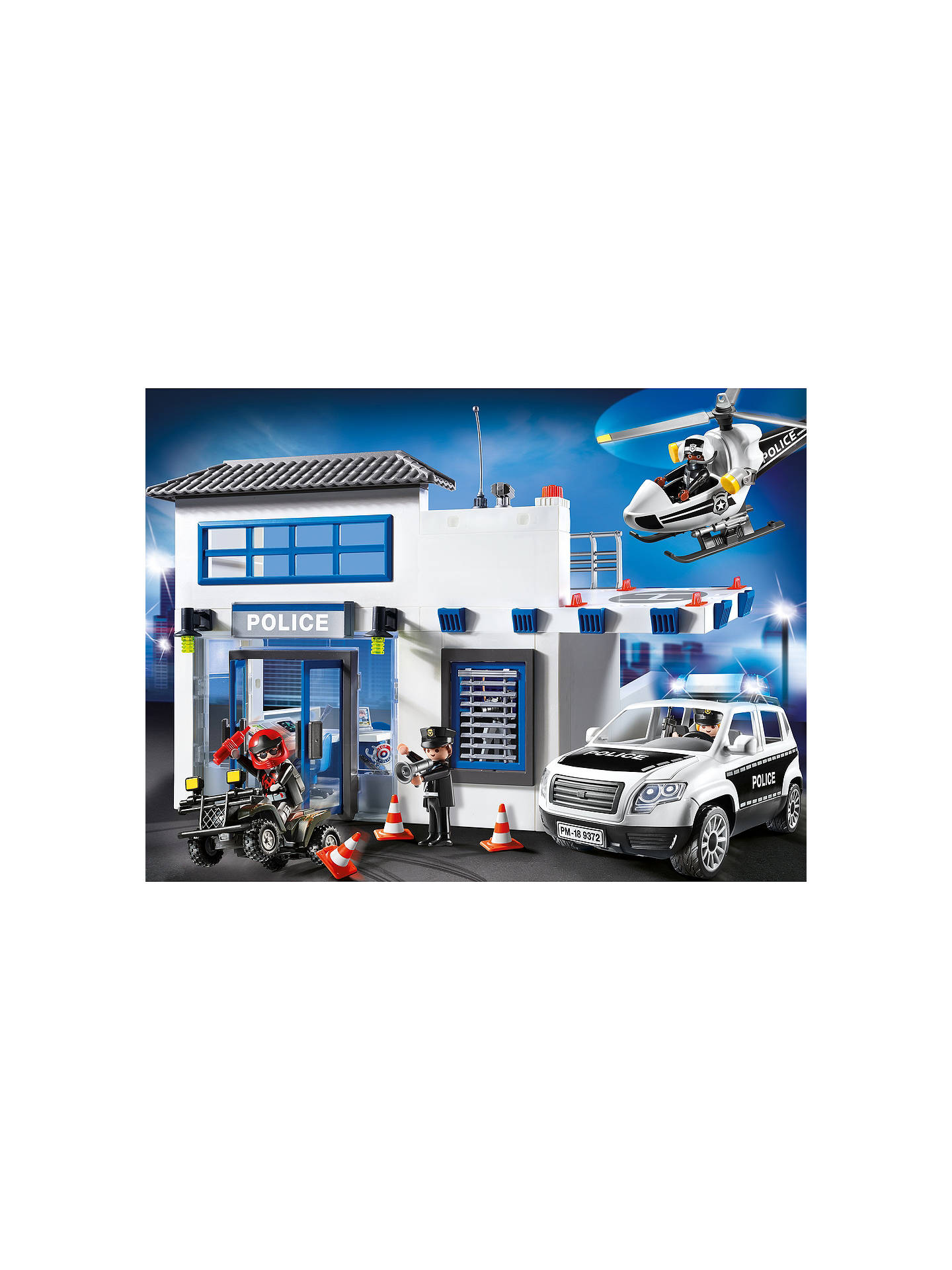 BuyPlaymobil City Action 9372 Police Station Mega Set Online at johnlewis.com