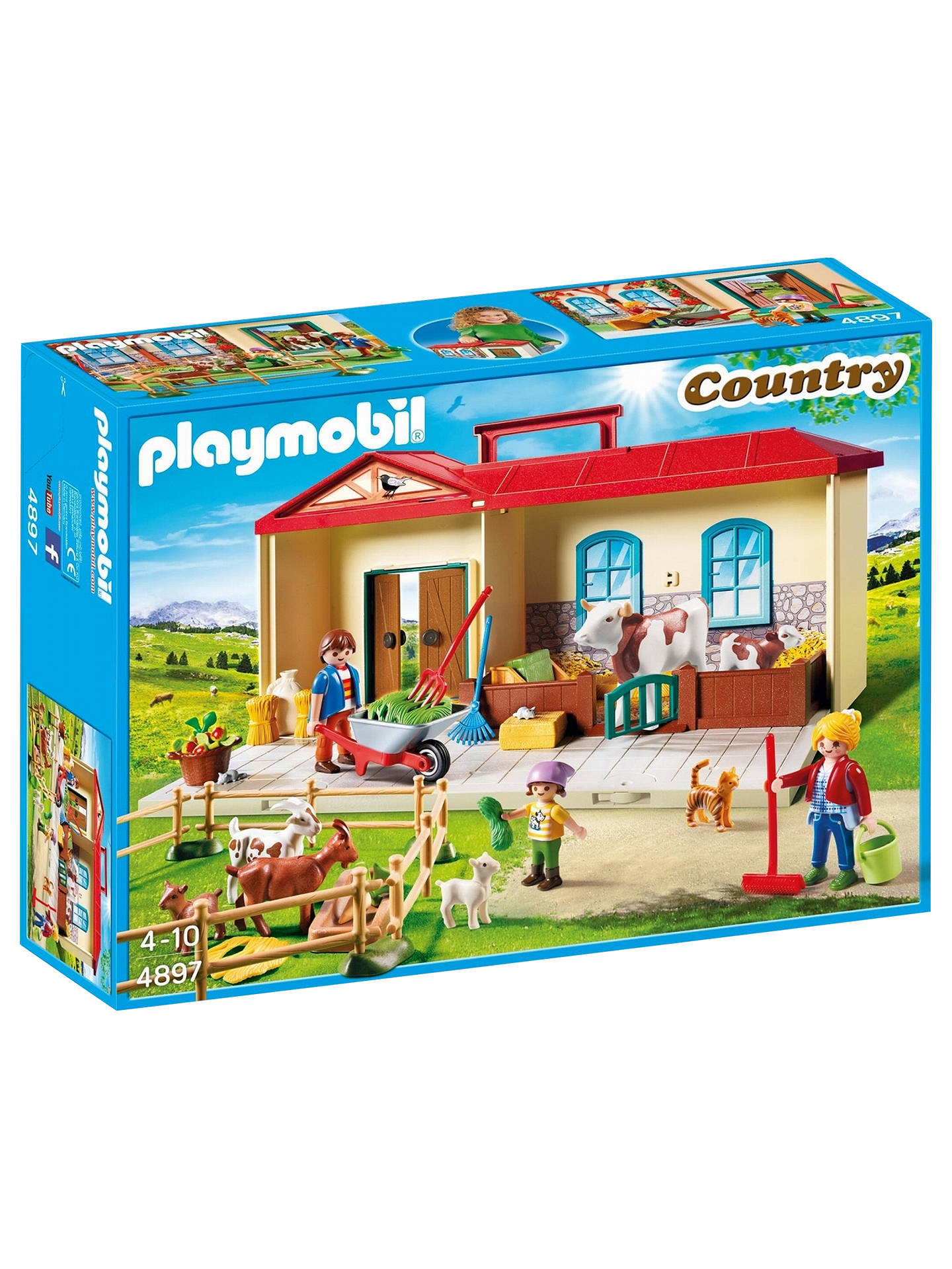 BuyPlaymobil Country 4897 Portable Country Take Along Farm with Carry Handle Set Online at johnlewis.com