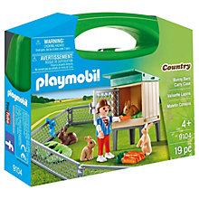 Buy Playmobil Country 9104 Bunny Barn Carry Case Online at johnlewis.com
