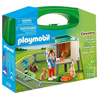 Playmobil easter toys gifts john lewis playmobil country 9104 bunny barn carry case negle Image collections