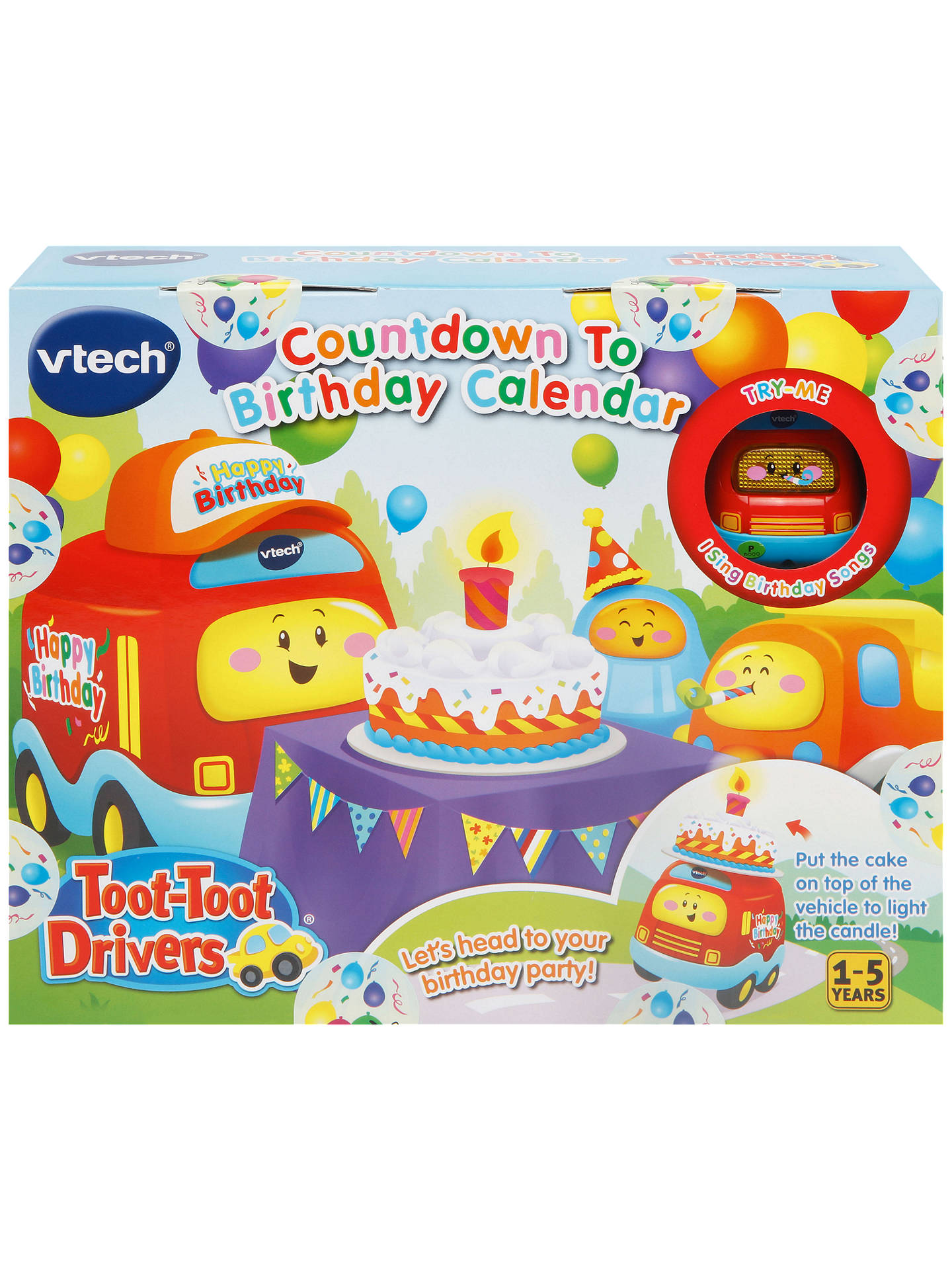 vtech toot toot drivers birthday countdown calendar at john lewis