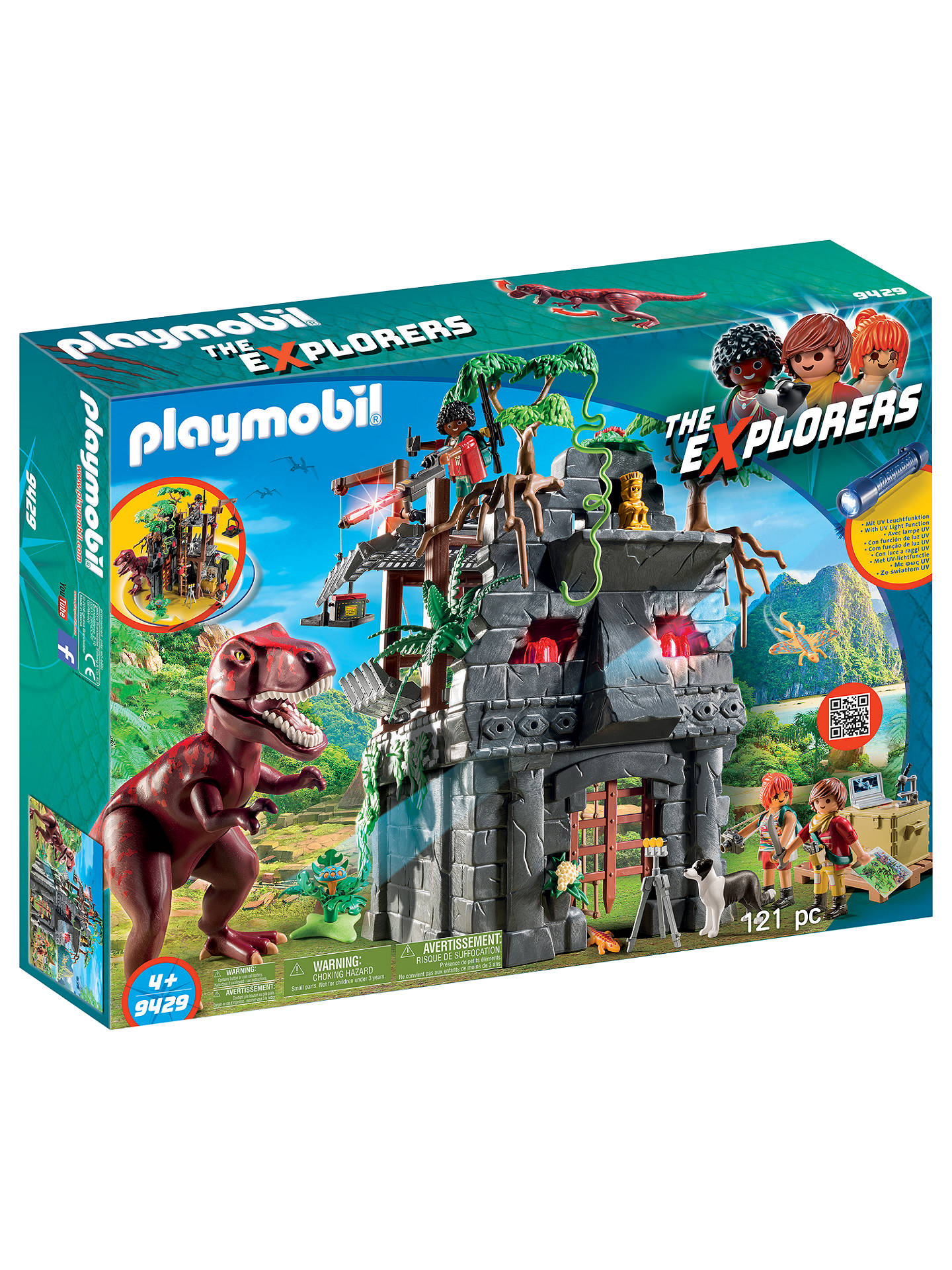 BuyPlaymobil The Explorers 9429 Hidden Temple with T-Rex Online at johnlewis.com