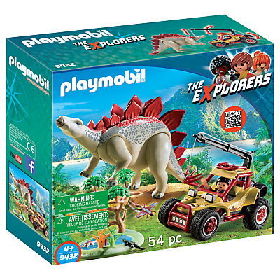 Playmobil The Explorers 9432 Vehicle With Stegosaurus