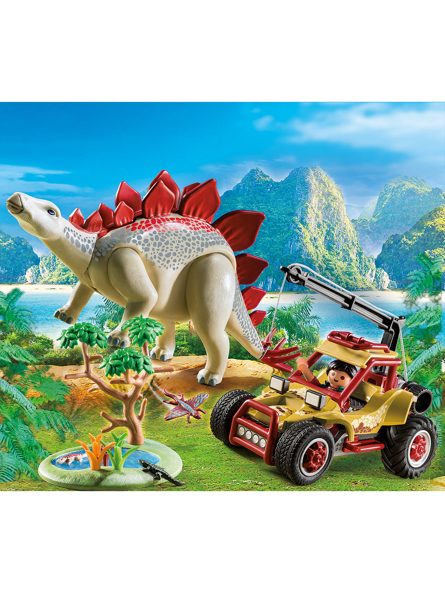 BuyPlaymobil The Explorers 9432 Vehicle with Stegosaurus Online at johnlewis.com