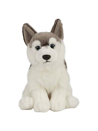 Living Nature Husky Soft Toy