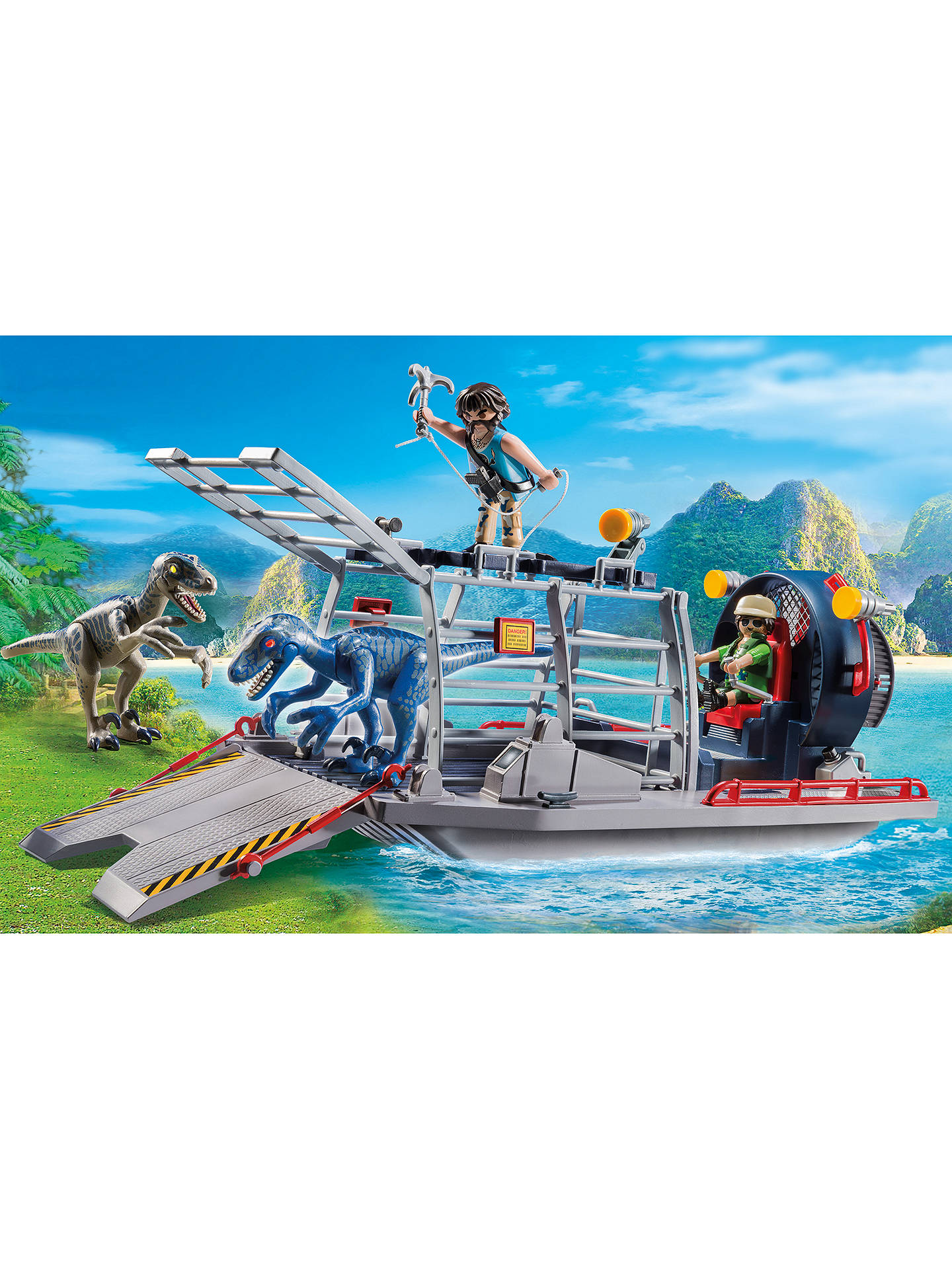 Buy Playmobil The Explorers 9433 Enemy Airboat With Raptor Online at johnlewis.com