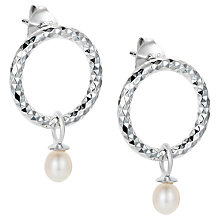 Buy Claudia Bradby Bullet Drop Stud Earrings, Silver Online at johnlewis.com