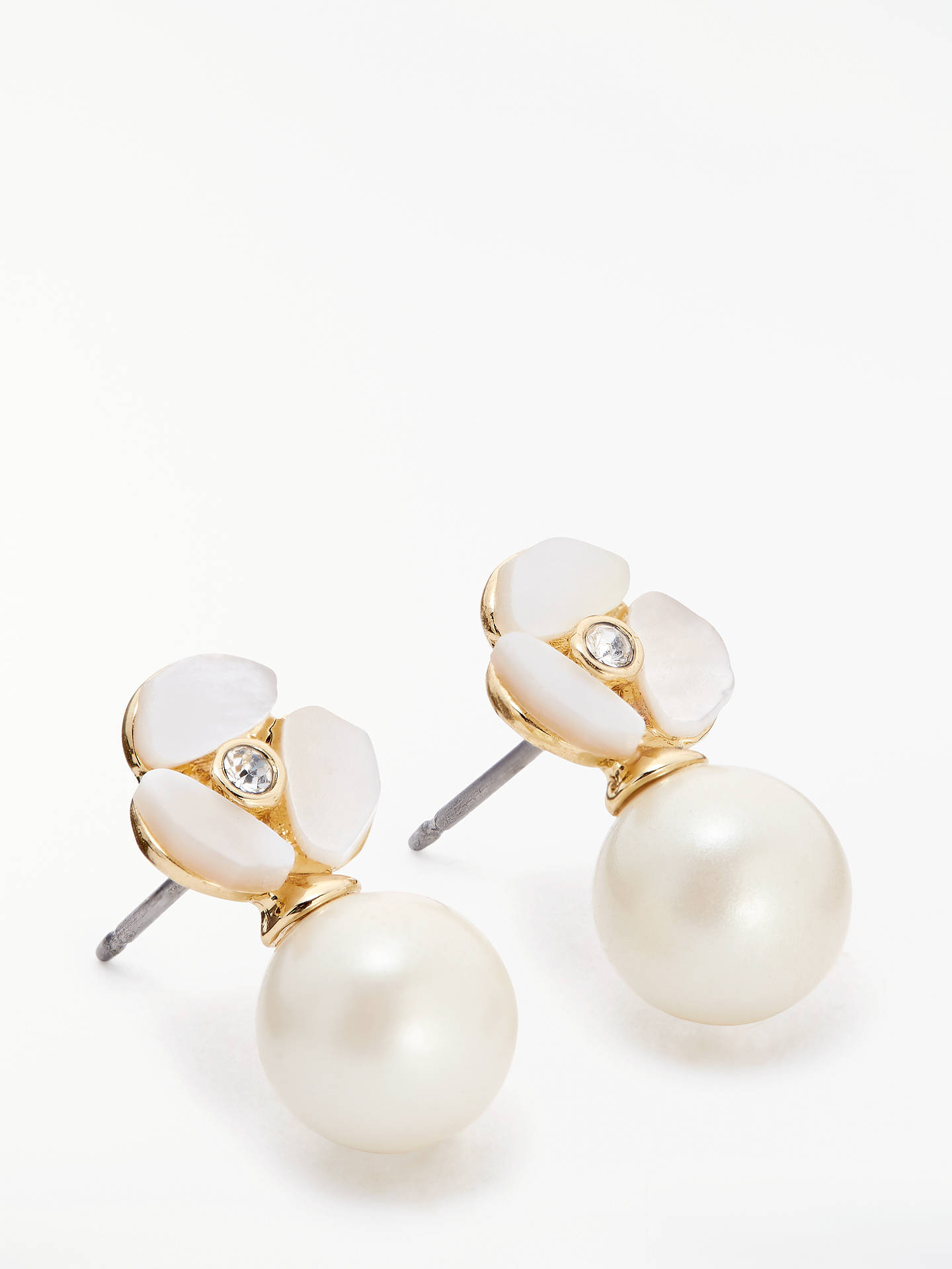 f62c79613adced Buy kate spade new york Pearl Drop Stud Earrings, Rose Gold/Cream Online at  ...